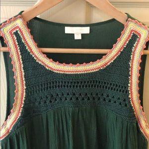 Lauren Conrad crochet tank top size M